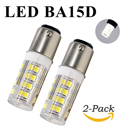 YSCS LED BA15D Light Bulbs Double Contact Bayonet Base B15D 4w 40W Equivalent 120 Volts Daylight 6000K 500Lm Dimmable T3/T4/C7/S6 Base JD Car Bulb (Pack of 2) (B15d Base)