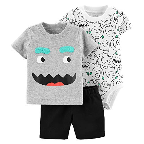 Carter's Baby Boys' 3 Piece Layette Set (Baby) (12 Months, Little Monsters)