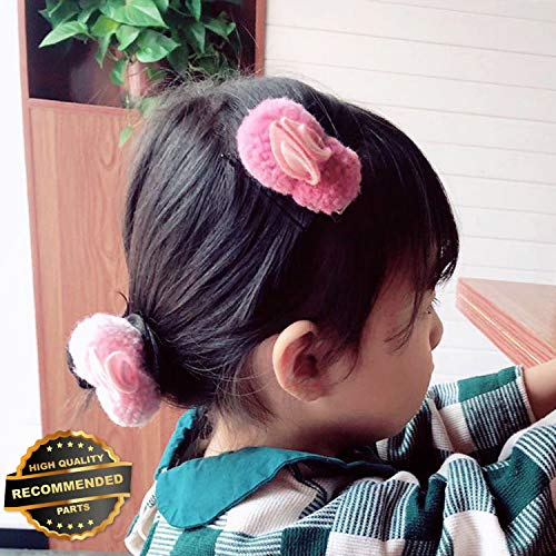 Gatton Premium New Cute Rabbit Plush Girls Baby Hair Clip Hair Band Ties Rope Ring Ponytail Holder | Style HRCL-M182013170