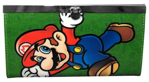 Nintendo Mario Juniors Green Flip Lock Wallet