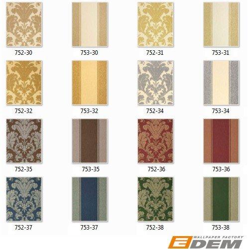 Wallpaper wall baroque damask EDEM 752-38 luxury heavyweight green gold platin-grey 5.33 sqm (57 sq ft) by Edem (Image #6)