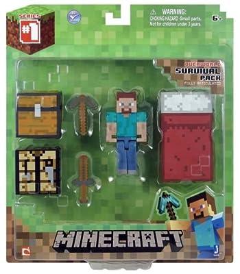 Minecraft Series 1 Core Player Survival Pack Figure Action Steve Overworld