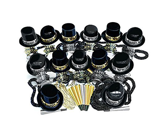 New Year's Gold and Silver Showboat Party Assortment for ''100'' Pkg/1 by Amscan