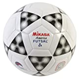 : Mikasa FSC62 America Futsal Soccer Ball (Black/White, Size 4)