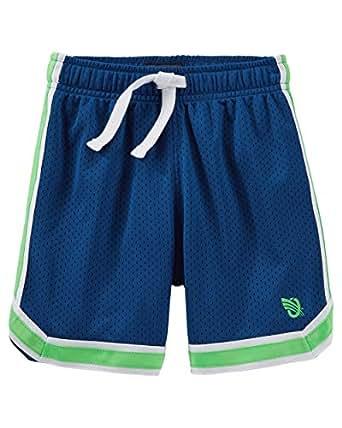 Oshkosh Boys 39 Active Mesh Shorts Royal Blue With Green Stripe 10 Clothing