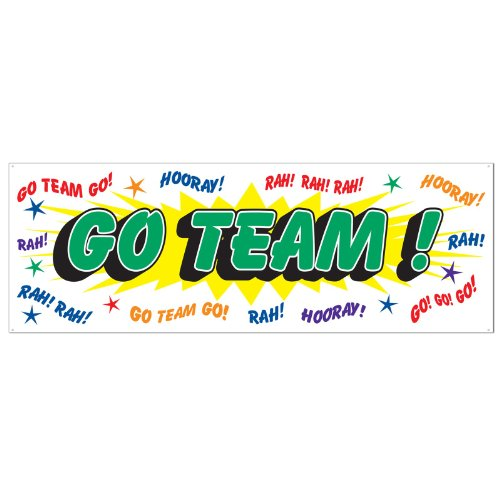 Go Team Sign Banner Party Accessory (1 count) (1/Pkg)