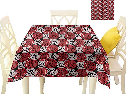 WilliamsDecor Picnic Cloth Floral,Rose Petals Romantic Dinning Table Covers W 54