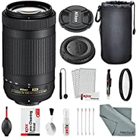 Nikon AF-P DX NIKKOR 70-300mm f/4.5-6.3G ED Lens W/ Basic Lens Bundle, UV Filter, Lens Pouch + Xpix lens Handling Kit