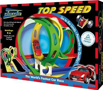 DARDA Top Speed 4 Meter with SLS AMG Mercedes in red: Amazon.co.uk ...