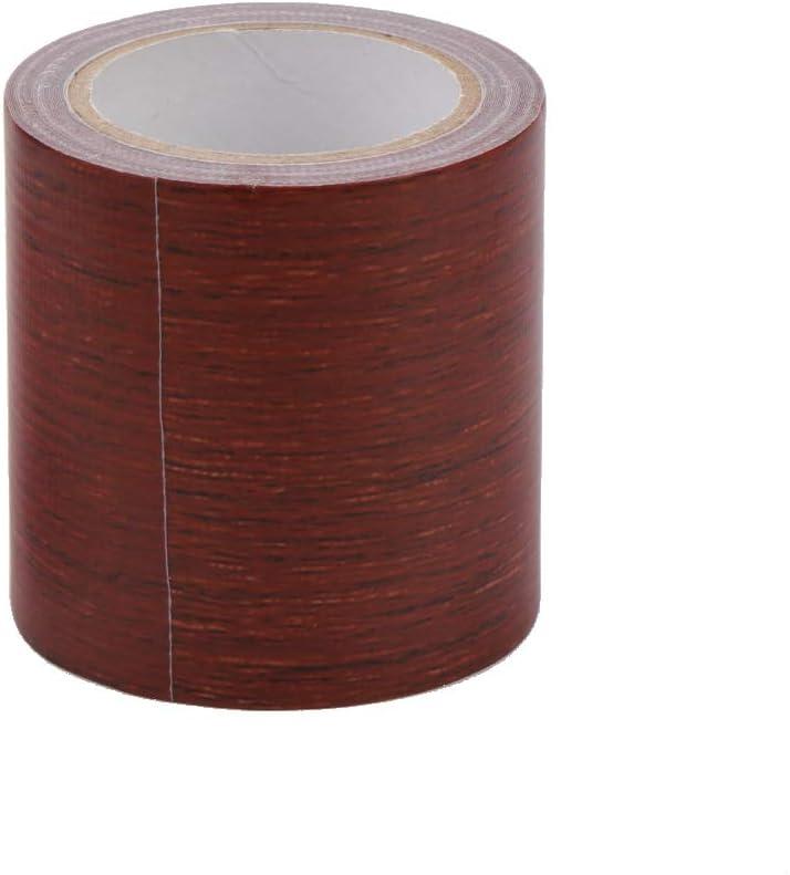 ZIRAN 5M Rotolo di Nastro Adesivo Adesivo per riparazioni a venature del Legno Realistico 8 Colori per Nastro per mobili Marrone