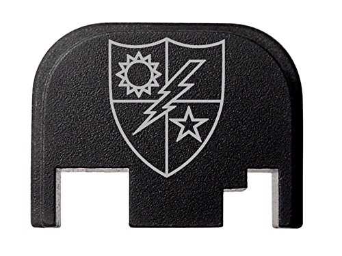(NDZ Performance for Glock 17 19 21 22 23 27 30 34 36 41 Rear Plate Blk G1-4 75th Ranger Regiment)