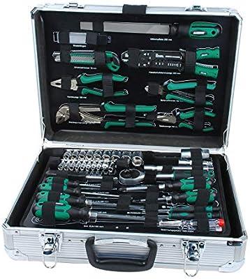 Mannesmann - M29075 - Maletín de herramientas de aluminio, equipado, 108 piezas: Amazon.es: Bricolaje y herramientas