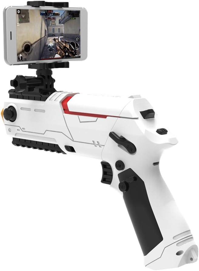 Docooler Bluetooth 4.0 Mini Pistola de Juego Pistola PP Portátil Gamepad Pistola Disparos de Smartphone Juegos de Mesa Vibrante Bricolaje Pistola de Juguete para Teléfonos Android iOS: Amazon.es: Electrónica