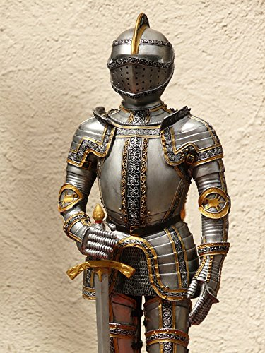Home Comforts Canvas Print Middle Ages Metal Knight Armor Ritterruestung Old Stretched Canvas 10 x 14 ()