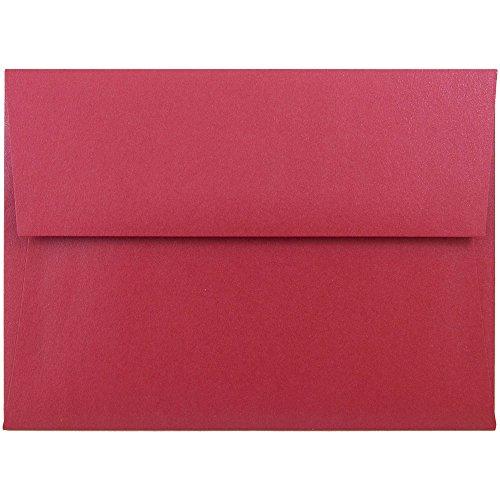 JAM PAPER A6 Metallic Invitation Envelopes - 4 3/4 x 6 1/2 - Jupiter Red Stardream - - Stardream Envelopes Metallic A6