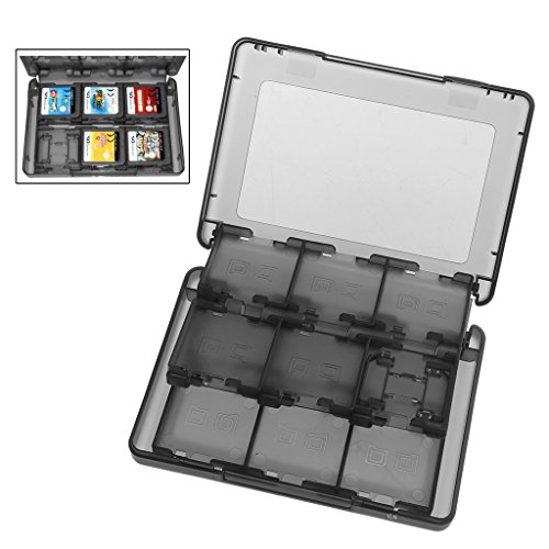 Fucung 28 in 1 Game Memory Card Micro SD Case Holder for Nintend NDS NDSi LL 2DS 3DS XL New 3DS LL XL Cartridge Storage Box ()