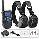 Cheap Electric Vibra Remote 2dog Shock Pet Training Collar Waterproof Rechargeable Lcd Lcd Bark Yards Safe Standby And Memory Function Low Light Conditions Brand New