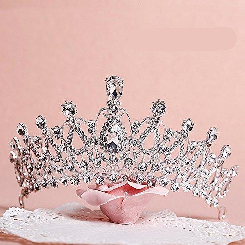 Sunshinesmile Crystal Tiara Crowns Hair Jewelry Rhinestone Wedding Pageant Bridal Princess Headband ()
