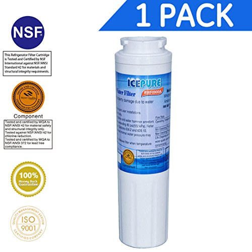 Price comparison product image Icepure RWF0900A Refrigerator Water Filter Compatible with Maytag UKF8001 ,WHIRLPOOL 4396395 ,EveryDrop EDR4RXD1, Filter 4 1PACK