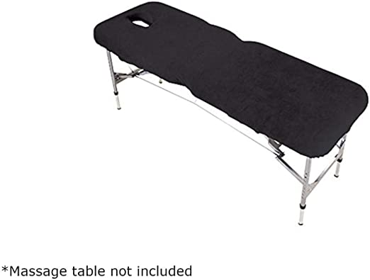 Funda para camilla de masaje con orificio para la cara, color negro: Amazon.es: Electrónica