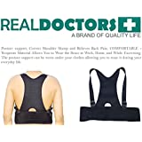 Neoprene Lower Back Brace And Posture Corrector For Scoliosis Spondylolisthesis And Thoracic Back Brace. This Is A Posture Support For Men And Women. Relieves Back Pain And Acts As A Shoulder Back Posture Support. This Back brace Is A Product By Real Doctors.
