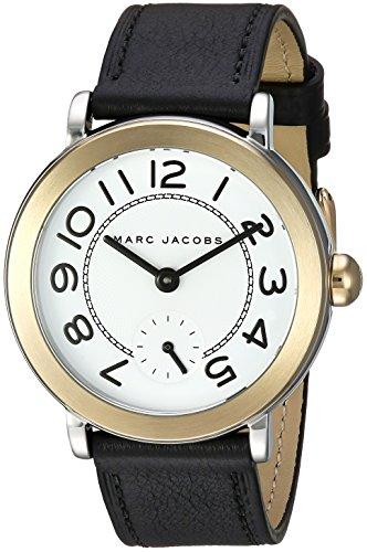 Marc Jacobs Women's Riley Black Leather Watch - MJ1514 (Watches Marc Black Women Jacobs)