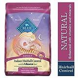 Blue for Cat Indoor Hairball Contro Receta de Pollo y Arroz Integral para Gatos Adultos