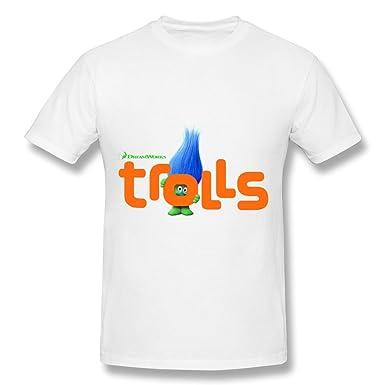 d11e0d27a Amazon.com: Dreamworks Trolls T Shirt For Men White: Clothing