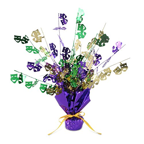 Mardi Gras Party Foil Spray Centerpiece, 18