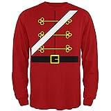 Christmas Toy Soldier Nutcracker Costume Mens Long Sleeve T Shirt