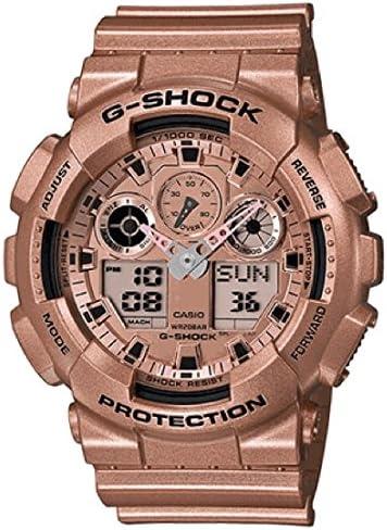 CASIO カシオ G-SHOCK Gショック Crazy Gold クレイジーゴールド メンズ 男性用 腕時計 ローズゴールド GA-100GD-9A【並行輸入品】