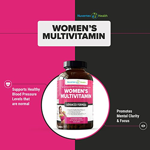 Women039s Daily Multivitamin Supplement - Biotin Vitamins A B C D E Calcium Zinc Lutein Magnesium Manganese Folic Acid amp More Natural Non-Gmo Gluten Free amp Dairy Free for Women - 60 Capsules Discount