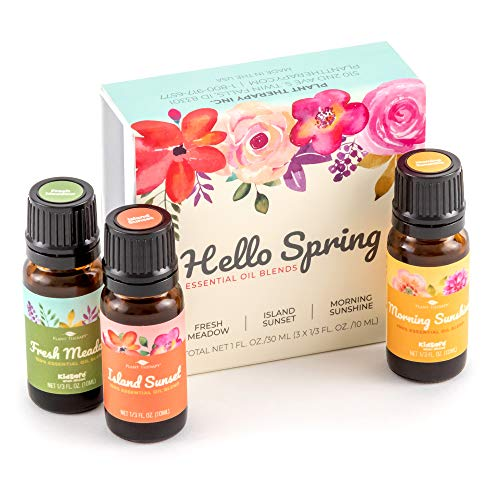 Plant Therapy Hello Spring Essential Oil Blend Set 100% Pure, Undiluted, Therapeutic ()
