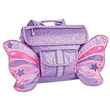 Bixbee Small Sparkalicious Butterflyer Backpack, Purple