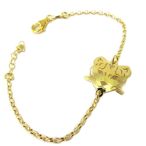 902d5faa379d Les Trésors De Lily  P3292  - Pulsera de plata  Jungle  dorado ...