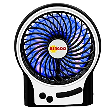 Fan Bengoo Portable Fan USB Mini Desktop Desk Table Electric Rechargeable Fan for laptop room office outdoor travel
