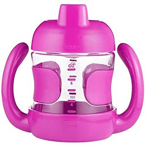 OXO Tot Sippy Cup with Removable Handles and Leakproof Valve (7 oz.) Pink