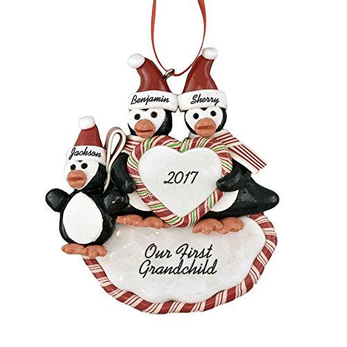 - Calliope Designs First Grandchild Personalized Christmas Ornament 5