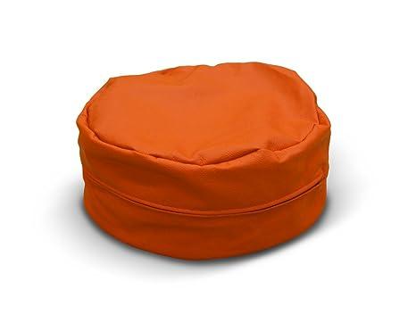 Pufmania - Puff Árabe S Polipiel Naranja: Amazon.es: Hogar