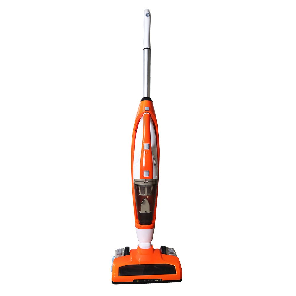 3-in-1 Cordless Stick Vacuum Cleaner, with Detachable Hand Vacuum with HEPA Filtration, Lightweight Rechargeable Bagless Stick and Handheld Vacuum Swivel Mop Floor Cleaner ,Orange evertop