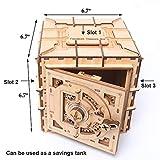 YOFIT Mechanical Models,3D Wooden Puzzle,Model Safe Kit,Money Banks