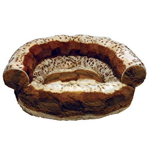 Rosewood-40-Winks-Hyena-Print-Cat-Sofa-Bed-Brown