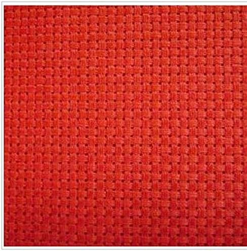 Amazon.com: Zamtac 100% Cotton 18CT/16CT/14CT/11CT/9CT Embroidery Aida Cloth Canvas Fabric - (Color: red, Size: 50x50cm, Cross Stitch Fabric CT Number: 16CT)