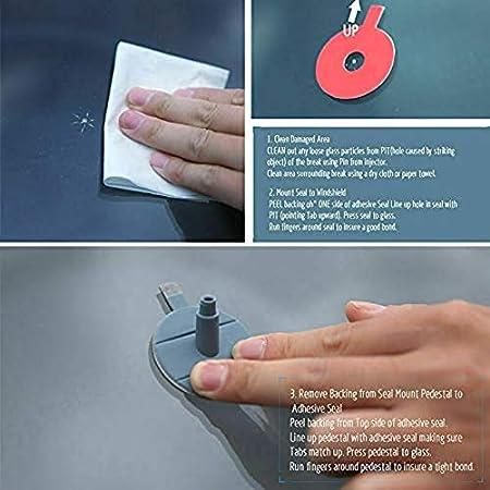 PRINDIY Kit Superior del Parabrisas de Bricolaje Auto Glass Chips Kit de reparaci/ón de Grietas reparaci/ón de Parabrisas Crack