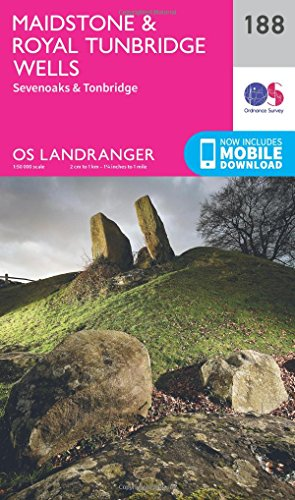Maidstone & Royal Tunbridge Wells (OS Landranger Map)