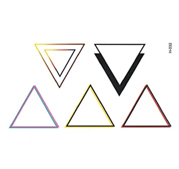 Body Art: tatuaje temporal, 5 triángulos multicolores: Amazon.es ...
