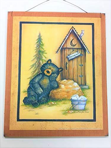 - Occupied Outhouse Country Bear Bathroom Sign Lodge Bath Decor Stars
