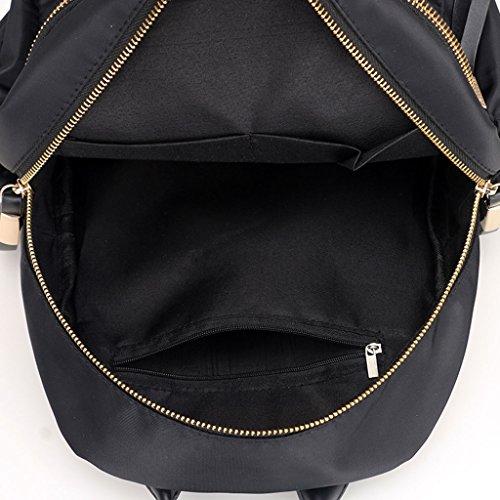 Women JAGENIE Waterproof Gray Nylon Black Backpack UpHTqf