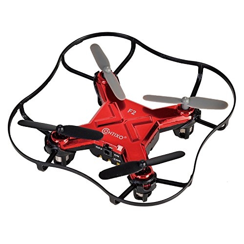 PRESIDENT'S DAY SALE! Contixo F2 Mini Pocket Drone 4CH 6 Axis Gyro RC Micro Quadcopter with 3D Flip, Intelligent Fixed Altitude (Red) - Best Gift