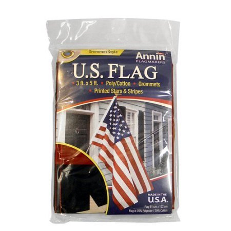 ANNIN FLAGMAKERS 3'x5' US FLAG w/Grommets 4TH OF JULY Poly/C